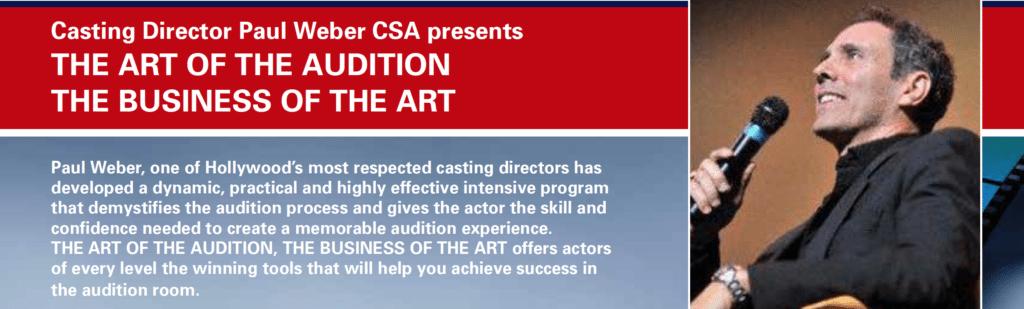 paul weber, workshop, seattle, casting director, acting, classes
