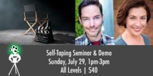 Seattle, actor, training, self-tape, workshop, seminar, on-camera
